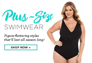 Promo - Plus Size Swimwear, Figure Flattering Swimsuits