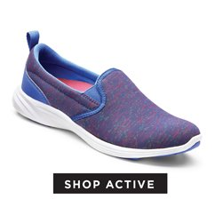cp-3-ShopActive-13-9-2016- Shop Flats. Image of a purple active casual slip on sneaker shoe.