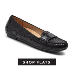 cp-2-ShopFlats-13-9-2016- Shop Flats. Image of a black women's loafer style flat.
