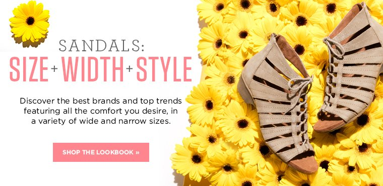 Shop The Size Width Style Sandals Lookbook