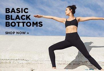 Yoga Promo - Basic Black Yoga Bottoms