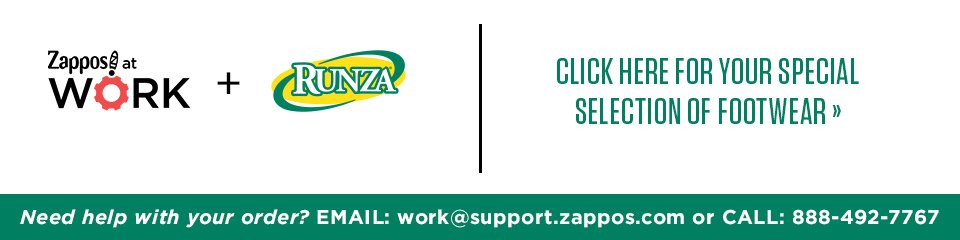 Zappos at Work - Shop Runza approved styles