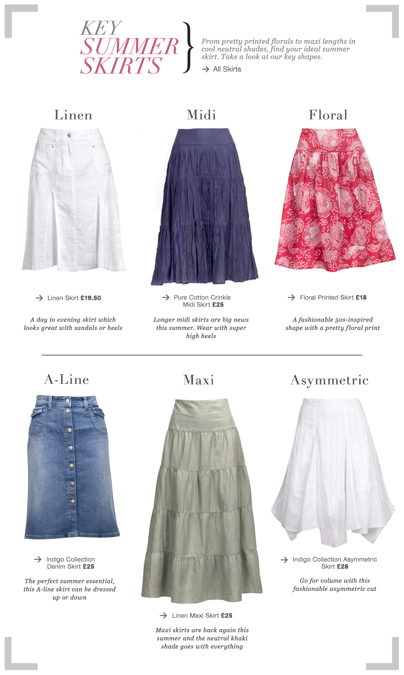 Key Summer Skirts