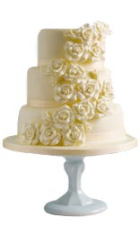 White Chocolate Rose Assorted Cake