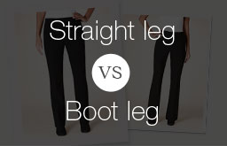 Straight leg vs. Boot leg