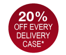 20% of every delivery case*