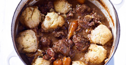 Braised beef with dumplings