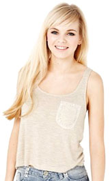 Angel Scoop Neck Crochet Vest Top