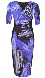 Twiggy for M&S Woman Leaf Print Panelled Dress £45
