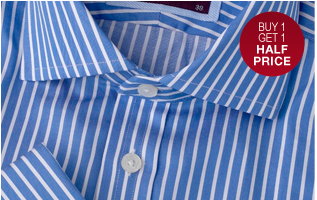 Buy 1 Get 1 Half Price on Luxury Shirts