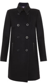 Pure Wool Leather Trim Coat £349