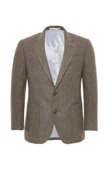 Heritage Luxury Wool Rich 2 Button Checked Jacket