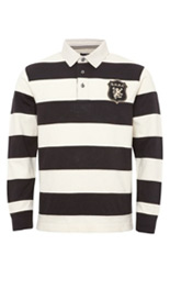 Pure Cotton Cut & Sew Striped Rugby Shirt