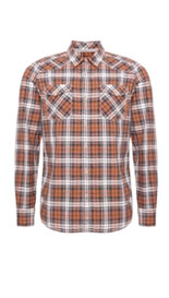 Pure Cotton Slub Checked Shirt