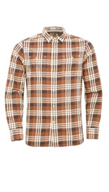 Pure Cotton Large Checked Twill Shirt