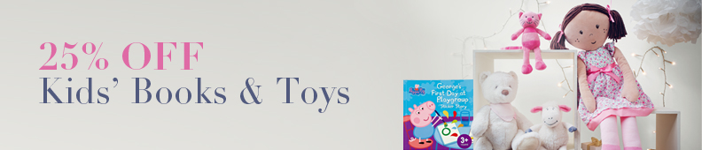25% Off Kids Books & Toys