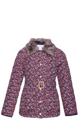 Ditsy Floral Quilted & Belted Coat with Stormwear™