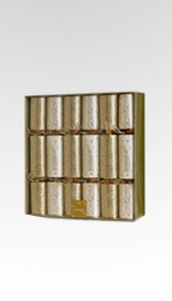 6 Gold & Cream Luxury Christmas Crackers