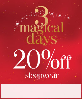 20% off sleepwear