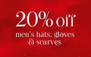 20% Off Men's Hats, Gloves and Scarves