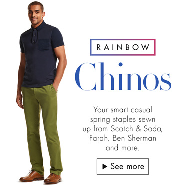 Men's Fashion: Rainbow Chinos