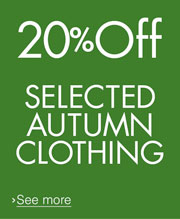 20% off Selected Autumn Clothing