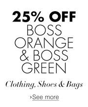25% Off BOSS Orange & BOSS Green