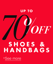Up to 70% off Shoes & Bags