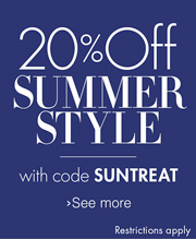 20% off summer style with code 'SUNTREAT'