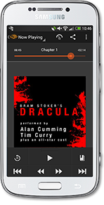 Android Audible App with Dracula audiobook