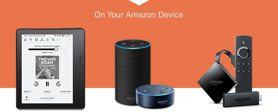 Audiobook on your Amazon device