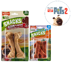 Save on Nylabone Dog Snacks/Treats, Medium, Venison Flavour, 10-Piece and more
