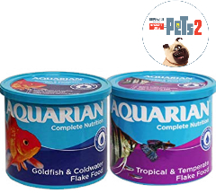 Save on AQUARIAN Complete Nutrition, Aquarium Tropical Fish Food, Flakes, 200 g Container and more