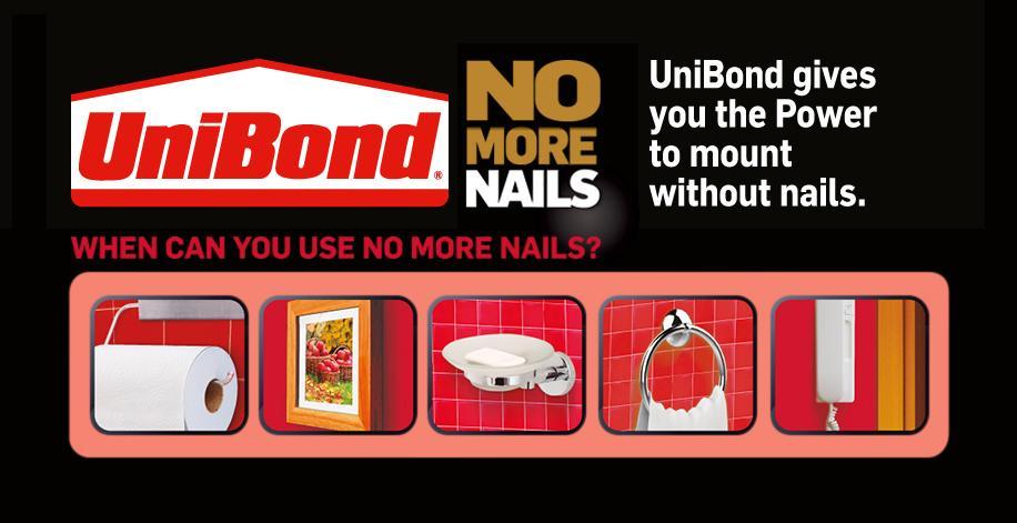 Unibond No More Nails Permanent Strips Pack Of 10 Diy Tools