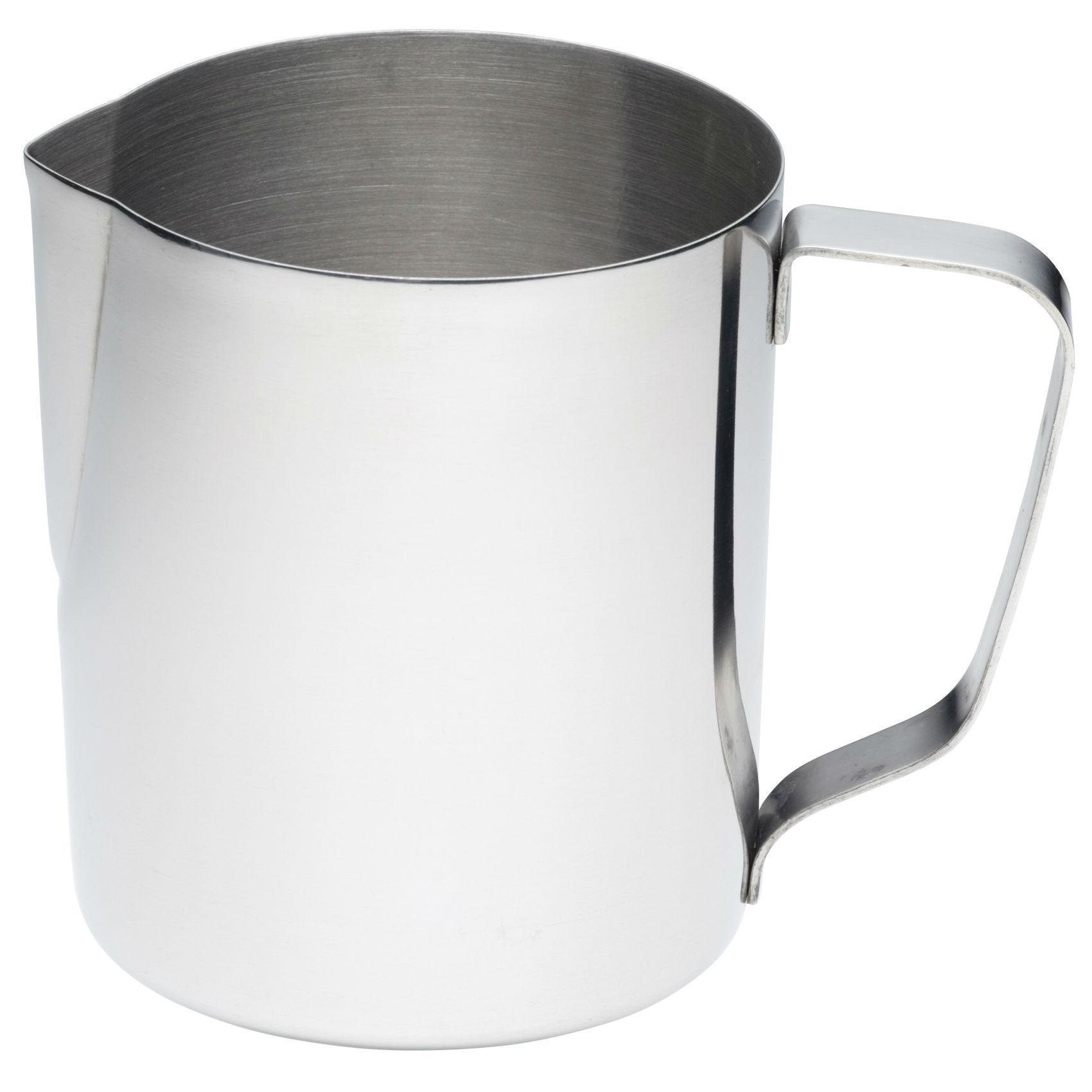 kitchencraft large stainless steel milk jug frothing jug. Black Bedroom Furniture Sets. Home Design Ideas