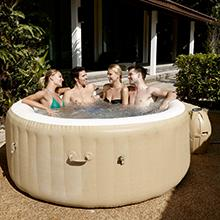 Lay Z Spa Palm Springs Inflatable Portable Hot Tub Spa 4