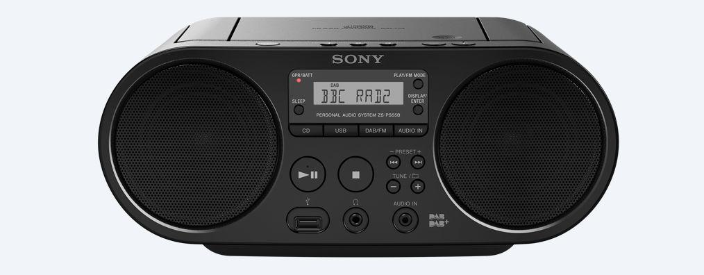 Ubrugte Sony ZS-PS55B CD Boombox with DAB and FM Radio - Black: Amazon.co LE-88