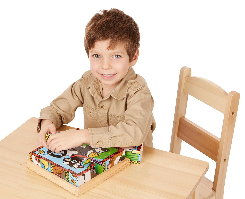 Uncategorized Child Puzzles melissa doug farm wooden cube puzzle with storage tray 6 view larger