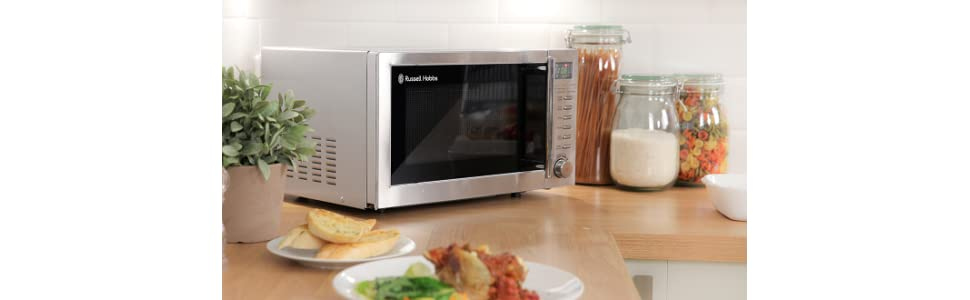 russell hobbs rhm2031 20l digital 800w grill microwave stain