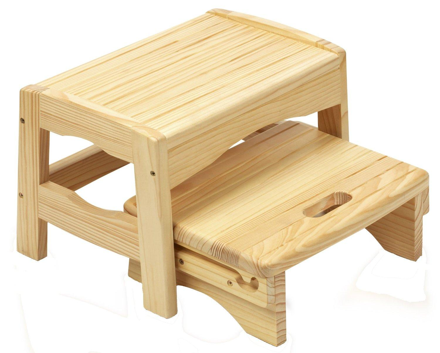 safety 1st wooden 2 step stool natural safety 1st baby. Black Bedroom Furniture Sets. Home Design Ideas