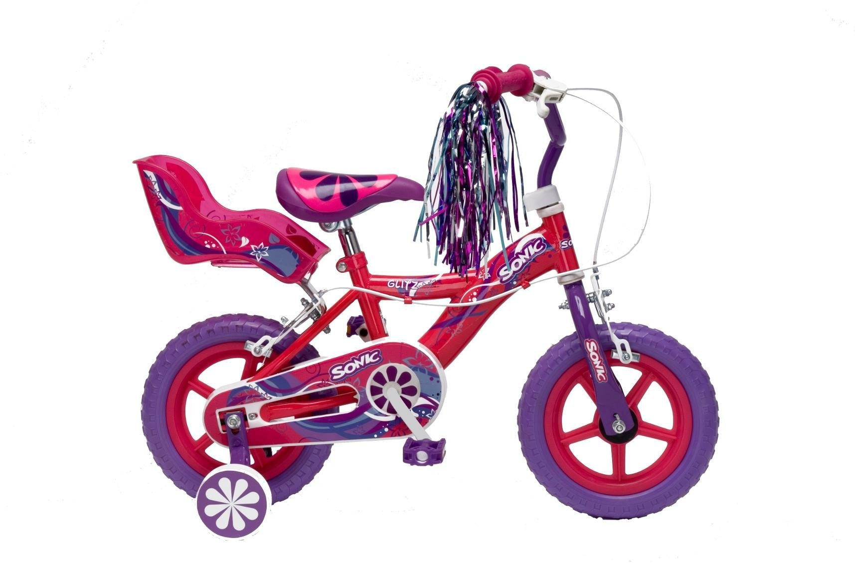 Sonic Girl S Glitz Bike 12 Inch Wheels Purple Cerise Amazon Co