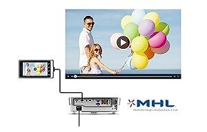 nQ W1080ST+ DLP 1080p Projector MHL