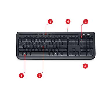 Microsoft Wired Keyboard 600, UK Layout - Black: Amazon.co.uk ...