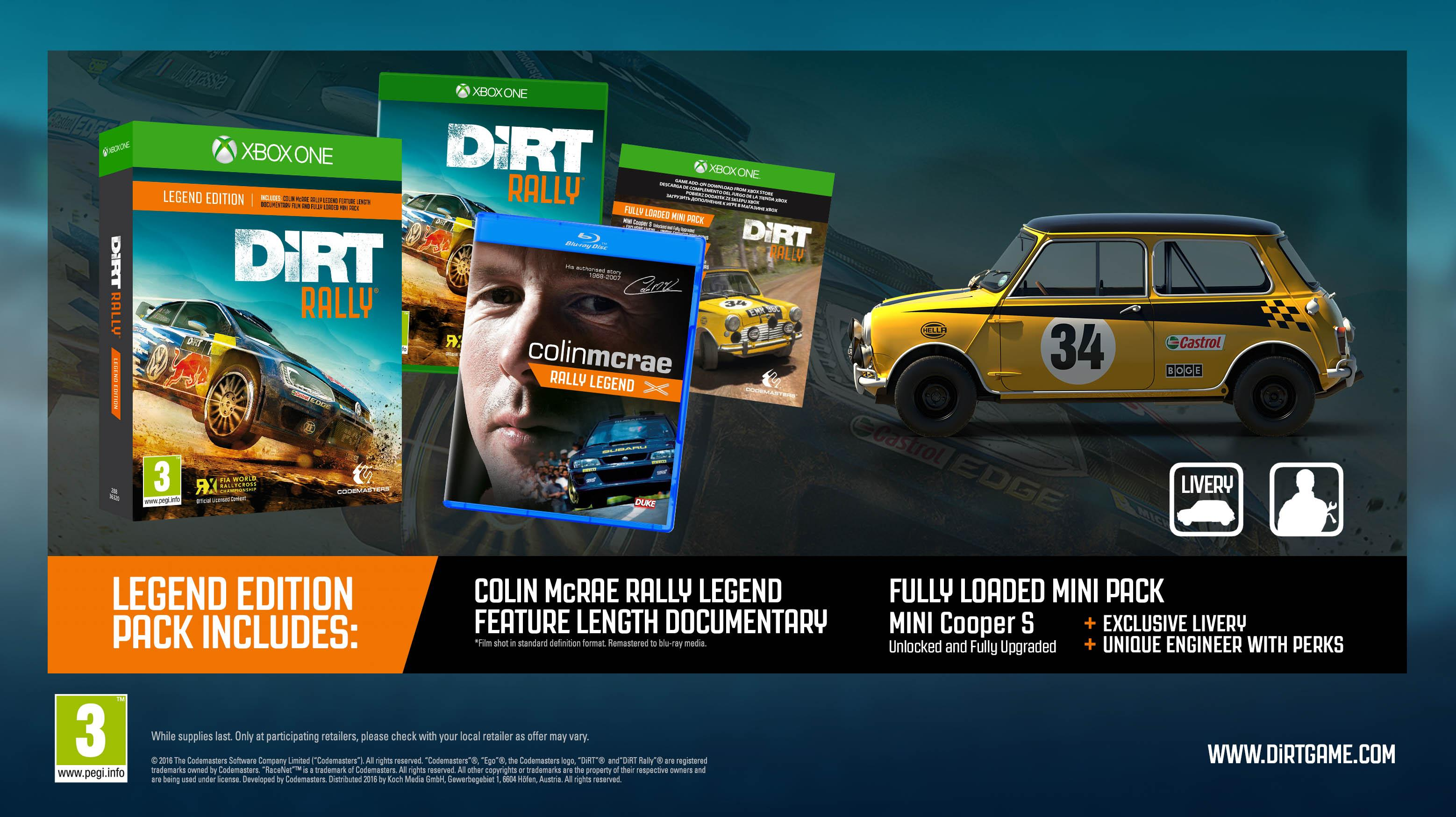 dirt rally legend edition xbox one pc. Black Bedroom Furniture Sets. Home Design Ideas