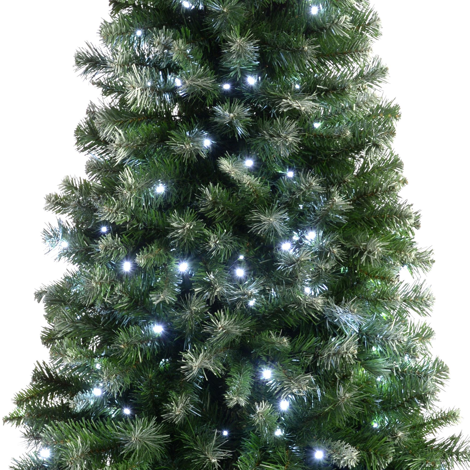 Artificial Christmas Trees Amazon Uk: WeRChristmas Pre-Lit Slim Frosted Christmas Tree With 200