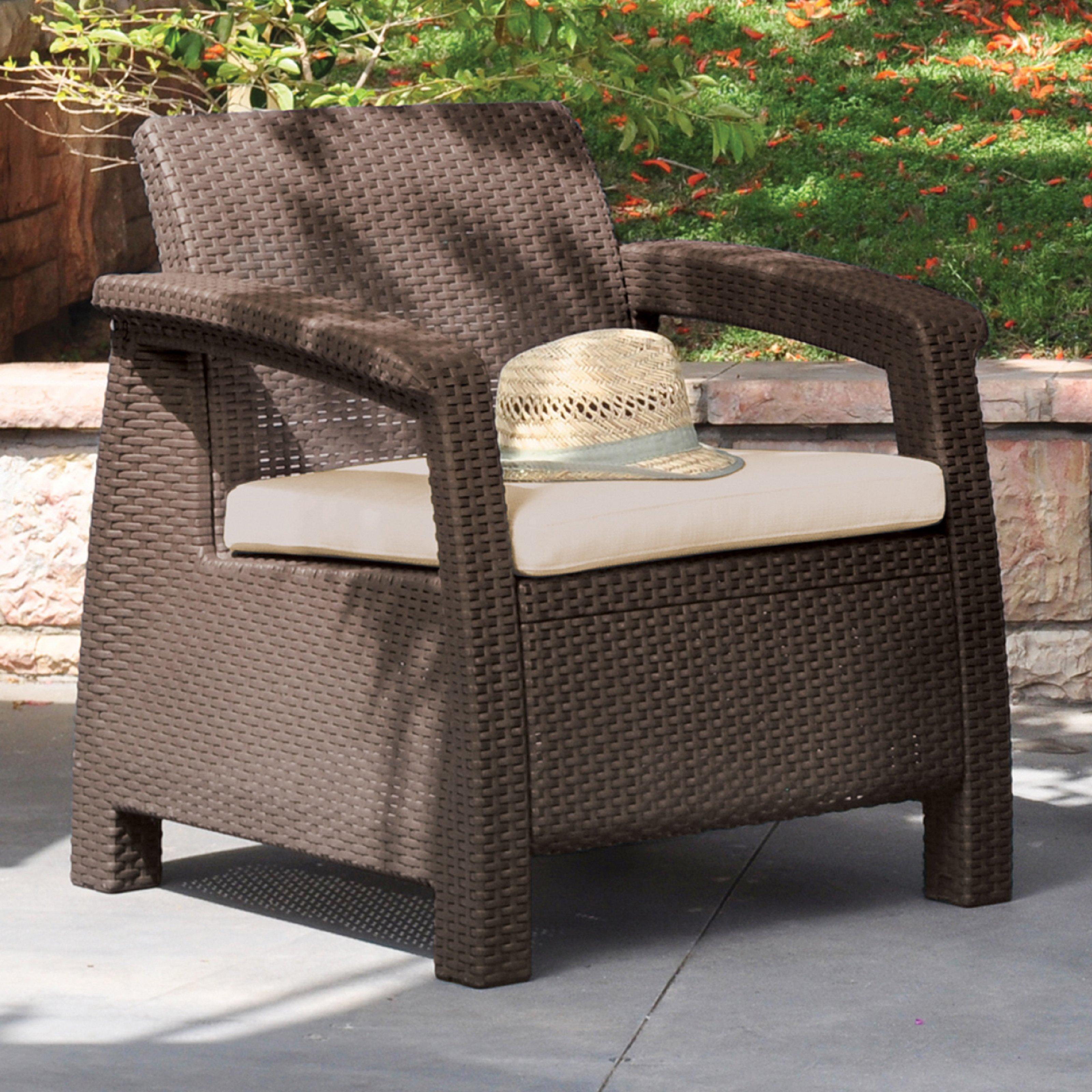 Keter Corfu 2 Seater Rattan Sofa Outdoor Furniture