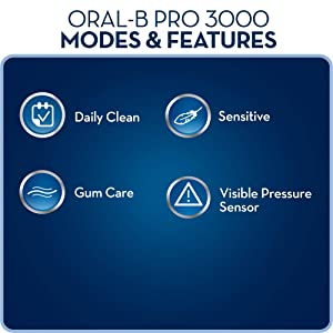 Oral-B Pro 3000 electric rechargeable toothbrush powered by Braun