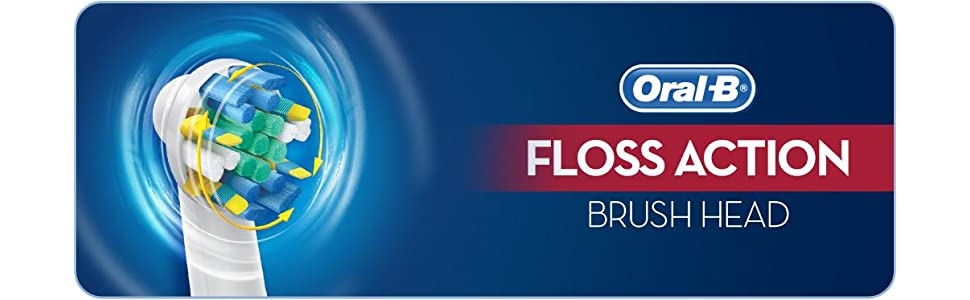 Oral-B Genuine Floss Action Replacement White Toothbrush