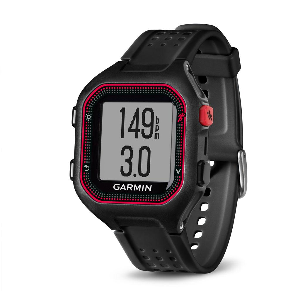 Garmin forerunner 25 gps running watch with heart rate monitor large black red for Garmin watches