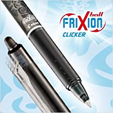 FriXion, Erasable, rollerball, gel pen, pen, writing, Pilot Pen, retractable, refillable